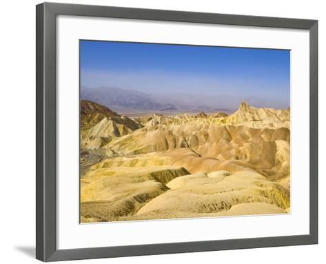 Manly Beacon Peak and Badlands-John Eastcott & Yva Momatiuk-Framed Art Print