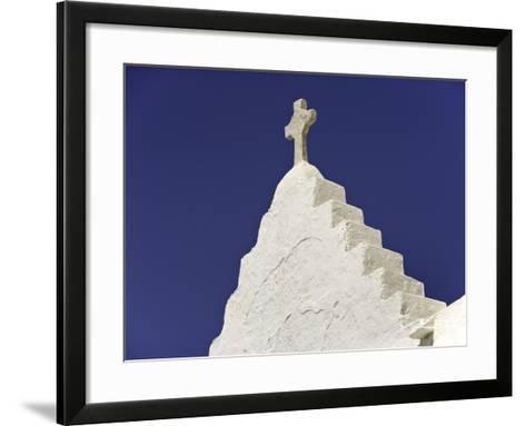 Cross on Top of Gable-Danny Lehman-Framed Art Print
