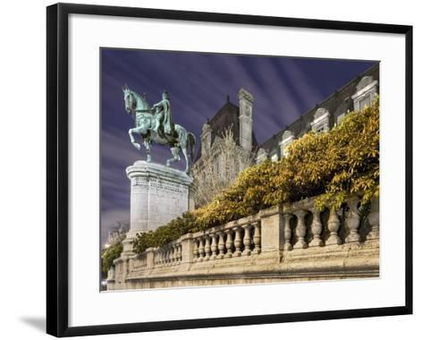 Equestrian Statue Outside Hotel de Ville-Peet Simard-Framed Art Print