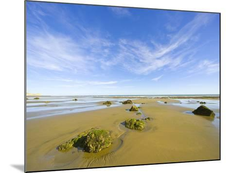 Sandy Beach at Low Tide, Valdez Peninsula-John Eastcott & Yva Momatiuk-Mounted Photographic Print