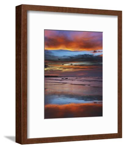 Thunderstorm Clouds over Timor Sea Before Monsoon-Frank Krahmer-Framed Art Print