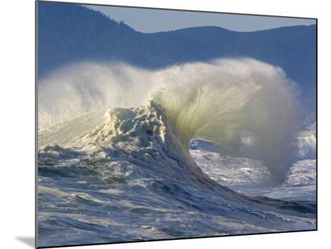 Wave Curl in Winter Storm-Craig Tuttle-Mounted Photographic Print