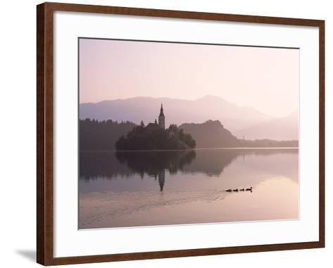 Bled Island and Lake Bled--Framed Art Print