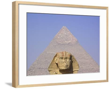 Sphinx and Great Pyramid-Frank Lukasseck-Framed Art Print