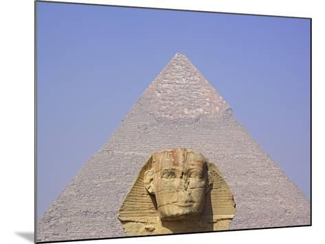 Sphinx and Great Pyramid-Frank Lukasseck-Mounted Photographic Print