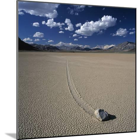 Rock Pushed by Wind in Desert-Micha Pawlitzki-Mounted Photographic Print