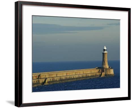 North Pier Lighthouse-Jason Friend-Framed Art Print