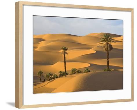 Palm Trees in Desert-Frank Lukasseck-Framed Art Print