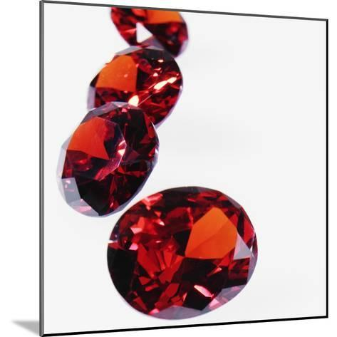 Round Cut Rubies--Mounted Photographic Print