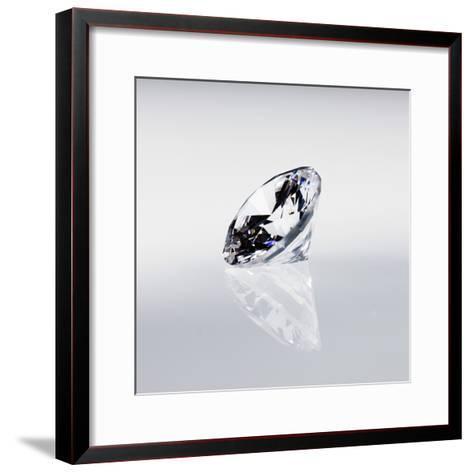 Round Cut Diamond--Framed Art Print