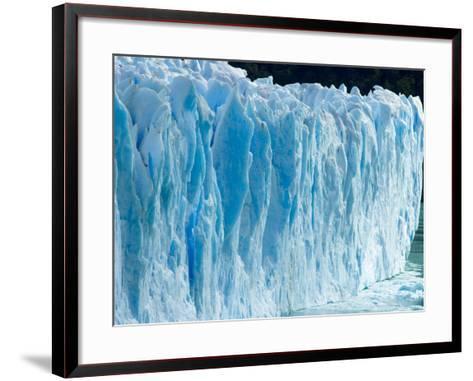 Rough Surface of Perito Moreno Glacier-John Eastcott & Yva Momatiuk-Framed Art Print