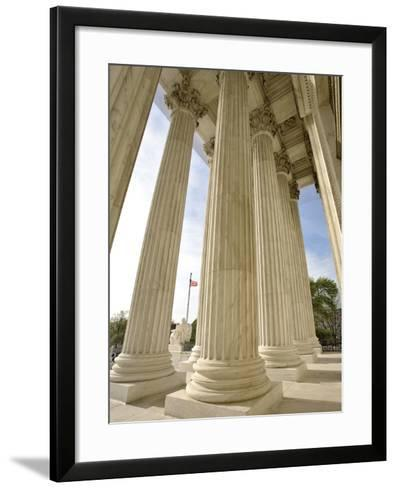 Columns of United States Supreme Court-William Manning-Framed Art Print