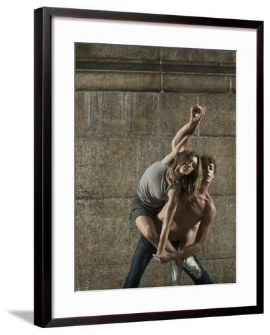 Man and Woman Dancing Together-Patrik Giardino-Framed Art Print