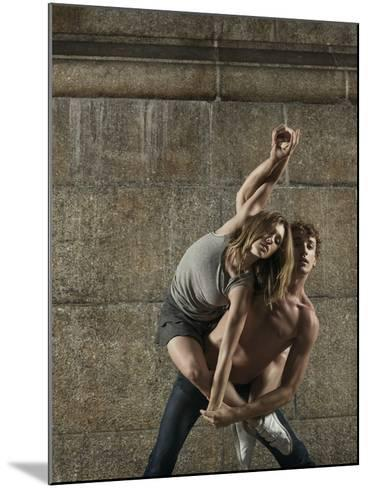 Man and Woman Dancing Together-Patrik Giardino-Mounted Photographic Print