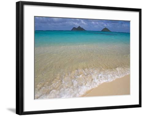 Mokulua Islands from Lanikai Beach-Darrell Gulin-Framed Art Print