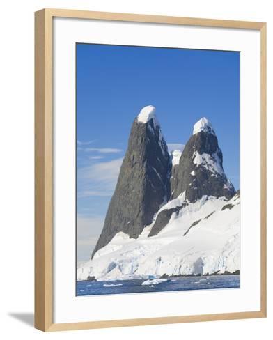 Snowcapped Pinnacles Rising from Coast-John Eastcott & Yva Momatiuk-Framed Art Print