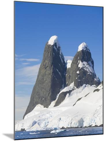 Snowcapped Pinnacles Rising from Coast-John Eastcott & Yva Momatiuk-Mounted Photographic Print