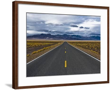 Empty Highway in Death Valley National Park-Rudy Sulgan-Framed Art Print