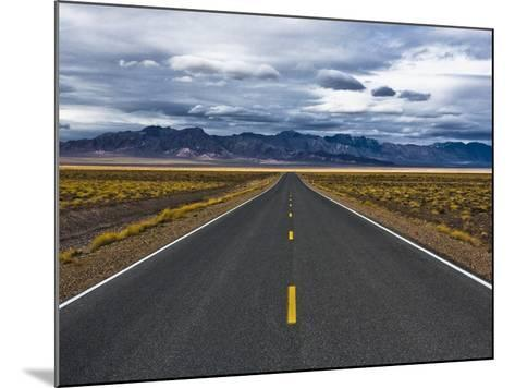 Empty Highway in Death Valley National Park-Rudy Sulgan-Mounted Photographic Print