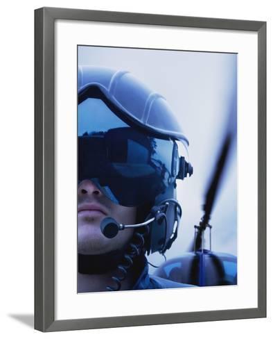 Helicopter Pilot-Bruno Ehrs-Framed Art Print