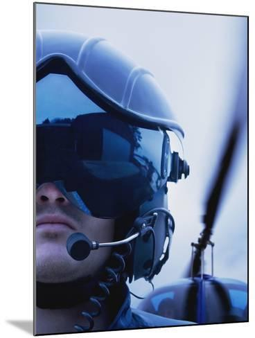 Helicopter Pilot-Bruno Ehrs-Mounted Photographic Print