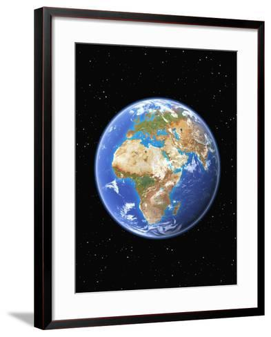 Eastern Hemisphere of Earth-Kulka-Framed Art Print