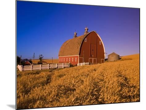 Wheat Field and Barn at Sunrise-Craig Tuttle-Mounted Photographic Print
