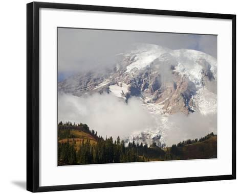 Mount Rainier in the Clouds-Craig Tuttle-Framed Art Print