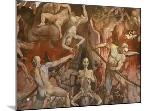 Detail of Hell from Last Judgment, Fresco Cycle-Frederico Zuccaro-Mounted Photographic Print
