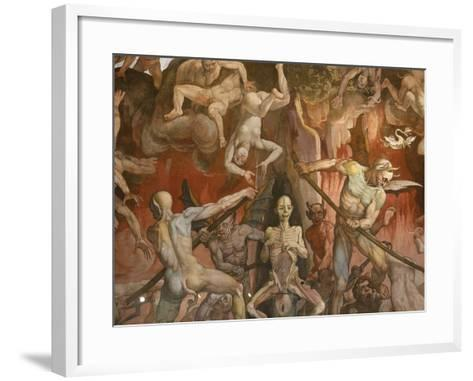 Detail of Hell from Last Judgment, Fresco Cycle-Frederico Zuccaro-Framed Art Print