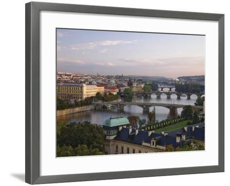Bridges Crossing the Vltava-William Manning-Framed Art Print