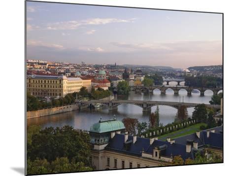 Bridges Crossing the Vltava-William Manning-Mounted Photographic Print