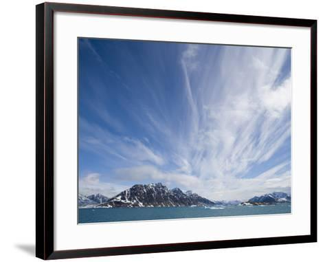 Cirrus Clouds Over Fjord in June-Theo Allofs-Framed Art Print