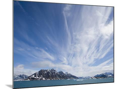 Cirrus Clouds Over Fjord in June-Theo Allofs-Mounted Photographic Print