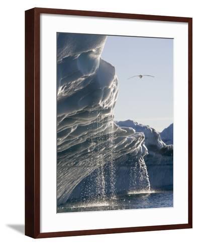 Melting Icebergs in Disko Bay, Greenland-Paul Souders-Framed Art Print