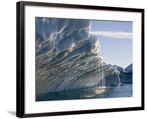 Melting Icebergs, Ililussat, Greenland-Paul Souders-Framed Art Print