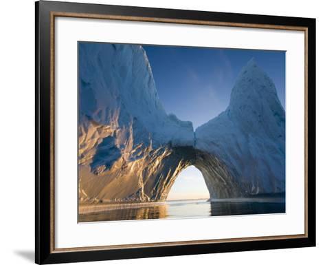 Arched Iceberg in Ililussat-Paul Souders-Framed Art Print