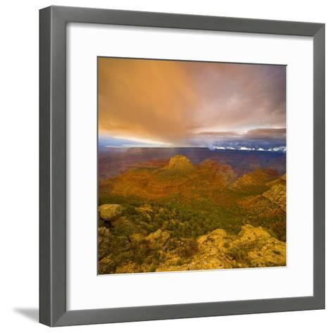 Bright Clouds Over Grand Canyon-John Eastcott & Yva Momatiuk-Framed Art Print