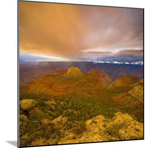 Bright Clouds Over Grand Canyon-John Eastcott & Yva Momatiuk-Mounted Photographic Print