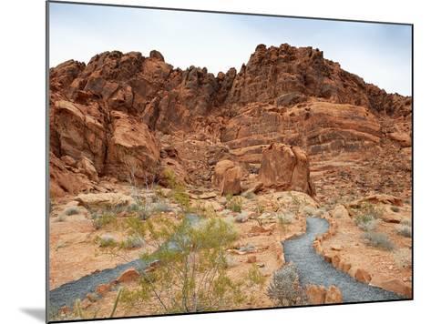 Rural Trail Through Desert-Beathan-Mounted Photographic Print