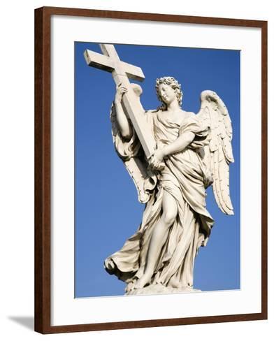 Statue of an Angel on Sant'Angelo Bridge-Paul Seheult-Framed Art Print