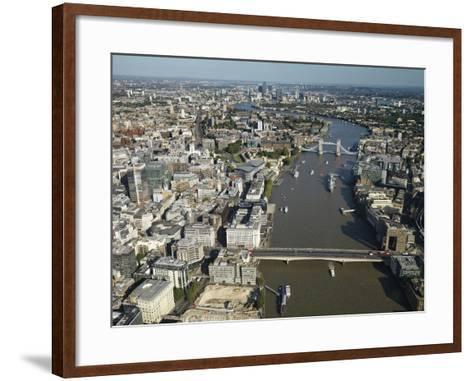 Thames River and London-Jason Hawkes-Framed Art Print