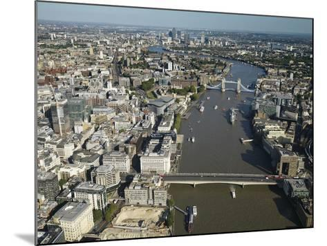 Thames River and London-Jason Hawkes-Mounted Photographic Print