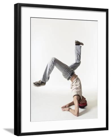 Break dancer-Erik Isakson-Framed Art Print