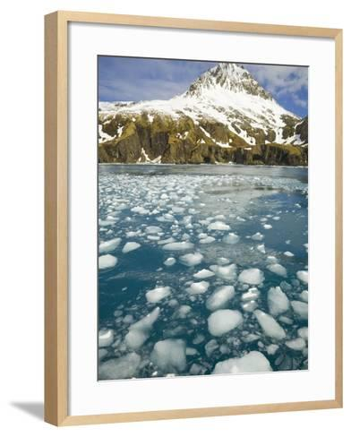 Ice Chunks From Twitcher Glacier Below the Salvesen Range-John Eastcott & Yva Momatiuk-Framed Art Print