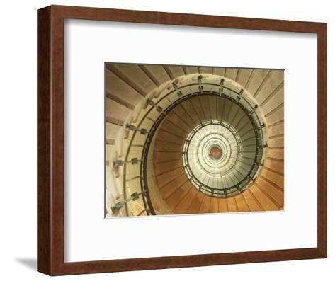 Spiral Staircase at Eckmuhl Lighthouse in Brittany-Owen Franken-Framed Art Print