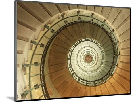 Spiral Staircase at Eckmuhl Lighthouse in Brittany-Owen Franken-Mounted Photographic Print