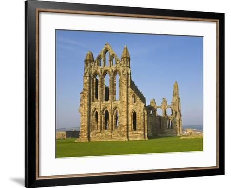 Ruins of Whitby Abbey in North Yorkshire-Paul Thompson-Framed Art Print