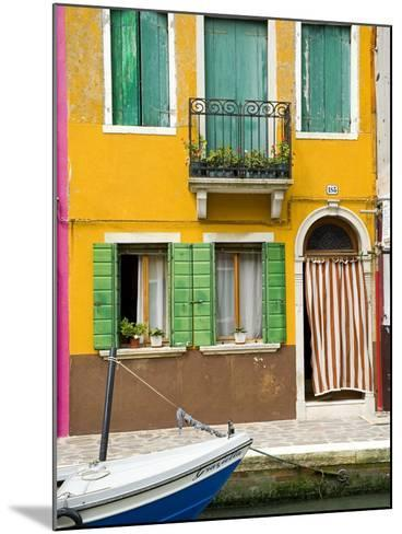 Colorful House on Burano Island--Mounted Photographic Print