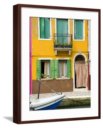 Colorful House on Burano Island--Framed Art Print